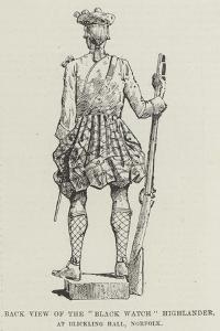 Back View of the Black Watch Highlander, at Blickling Hall, Norfolk