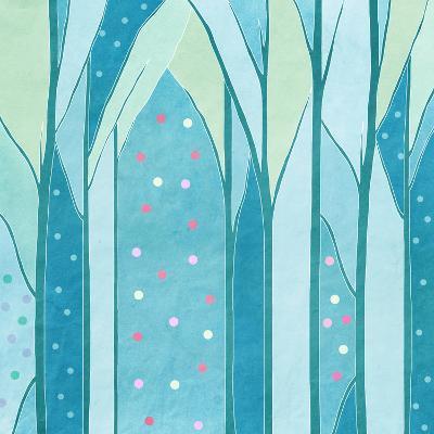Background of Trees,, Vintage-vipa21-Art Print