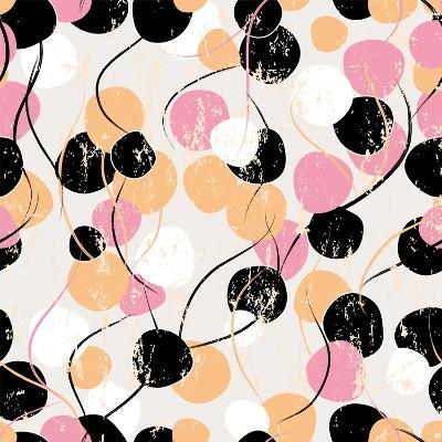 Background Pattern with Circles, Strokes and Splashes-Kirsten Hinte-Art Print