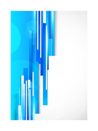 Background With Blue Lines-Denchik-Art Print