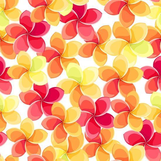 Background with Colorful Flowers-Naddiya-Art Print
