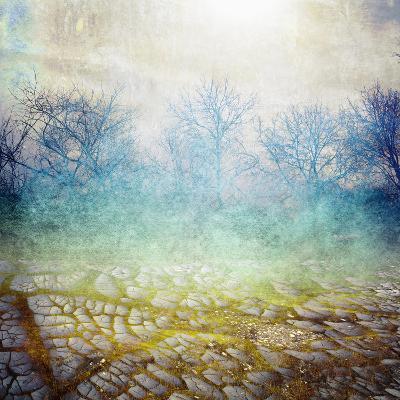 Background with Cracks- Anelina-Photographic Print