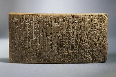 Backside of Tablet with Writings About the Works Realized by King Hammurabi--Giclee Print