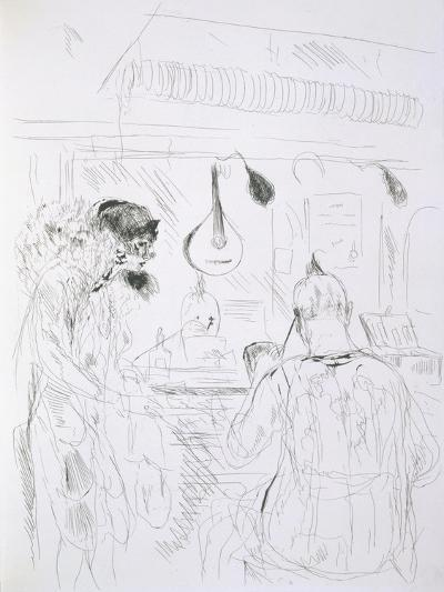 Backstage Scene at a Paris Bal De Nuit or Circus-French-Giclee Print