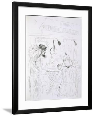 Backstage Scene at a Paris Bal De Nuit or Circus-French-Framed Giclee Print