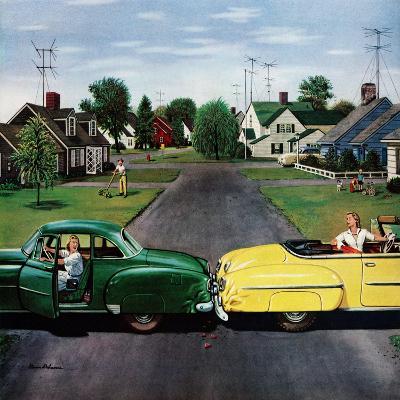 """Backup Collision"", August 4, 1956-Stevan Dohanos-Giclee Print"