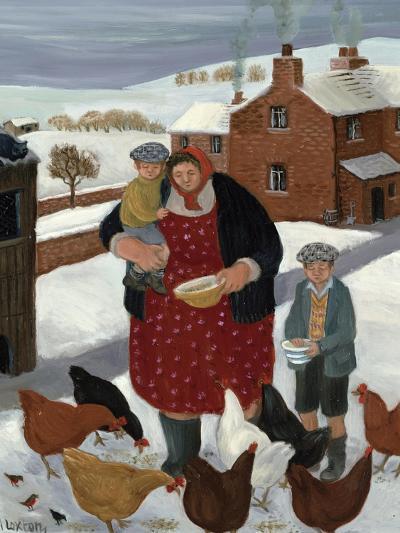 Backyard in Winter-Margaret Loxton-Giclee Print