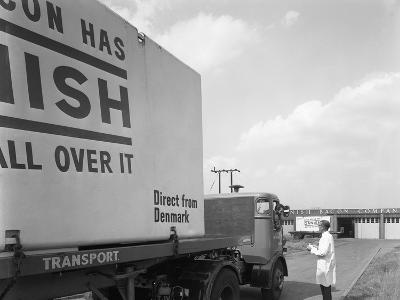 Bacon Delivery from Denmark, Kilnhurst, South Yorkshire, 1964-Michael Walters-Photographic Print