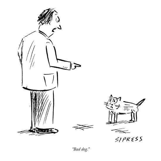 """Bad dog."" - New Yorker Cartoon-David Sipress-Premium Giclee Print"