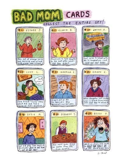 Bad Mom Cards: Collect The Whole Set! - New Yorker Cartoon-Roz Chast-Premium Giclee Print