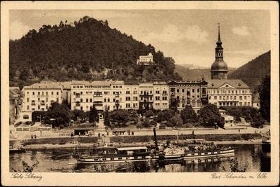 Bad Schandau, Elbe, Dampfschiff Leitmeritz, Ort--Giclee Print