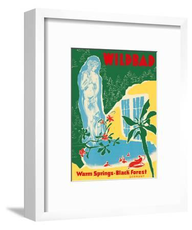 Bad Wildbad - Black Forest, Germany - Warm Springs - Palais Thermal Baths-Pacifica Island Art-Framed Art Print