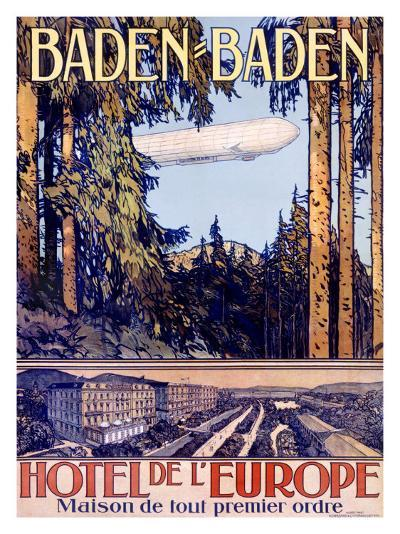 Baden Baden by Airship Hotel--Giclee Print
