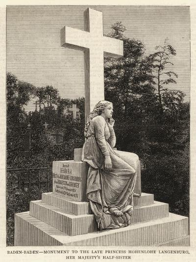 Baden-Baden, Monument to the Late Princess Hohenlohe Langenburg, Her Majesty's Half-Sister--Giclee Print