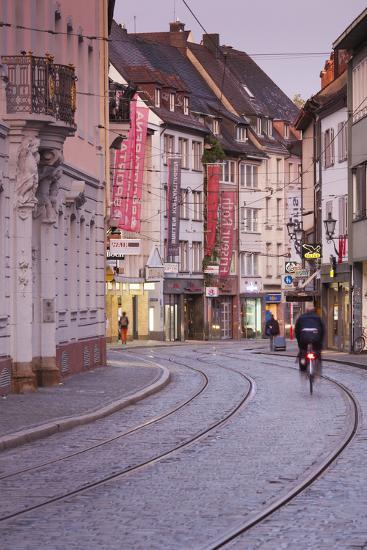 Baden-Wurttemburg, Black Forest, Old Town, Salzstrasse at Dawn-Walter Bibikow-Photographic Print