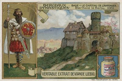 Baden; Zaehringen Castle and Berthold Ii, Duke of Carinthia, 1060--Giclee Print