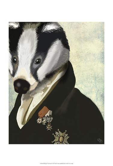 Badger The Hero-Fab Funky-Art Print