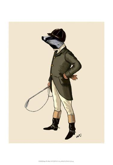 Badger The Rider Full-Fab Funky-Art Print