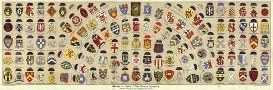 Badges and Caps of British Public Schools-Albert Lambert-Giclee Print