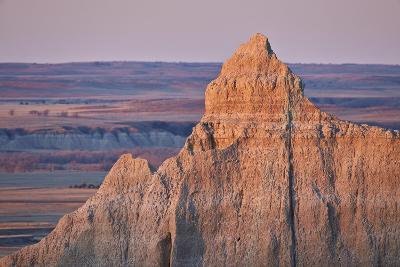 Badlands at Dawn, Badlands National Park, South Dakota, United States of America, North America-James Hager-Photographic Print