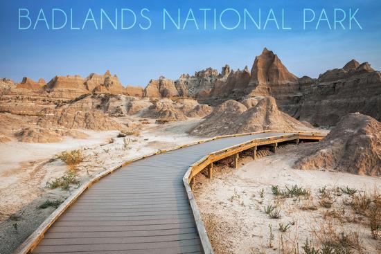 Badlands National Park, South Dakota - Walkway-Lantern Press-Wall Mural