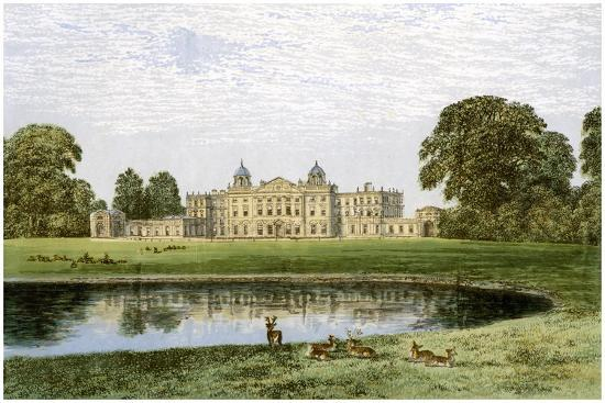 Badminton House, Gloucestershire, Home of the Duke of Beaufort, C1880-AF Lydon-Giclee Print