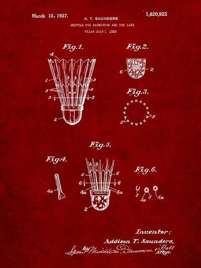 Badminton Shuttle Patent-Cole Borders-Art Print