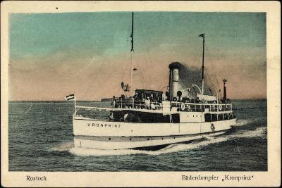 Bäderdampfer Kronprinz Der Reederei Paul Mestermann--Giclee Print