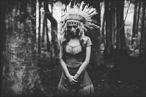 Black And White Mood In The Forest by Bagasphotowork