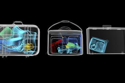 Baggage Surveillance, Simulated X-ray-Christian Darkin-Photographic Print