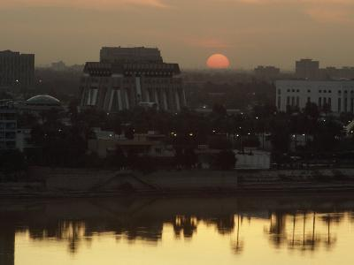 Baghdad and the Tigris River at Sunset-Lynn Abercrombie-Photographic Print