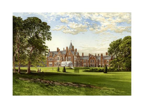 Bagshot Park, Surrey, Home of the Duke of Connaught, C1880-Benjamin Fawcett-Premium Giclee Print