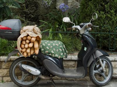 Baguettes on Back on Scooter, Monaco-Ethel Davies-Photographic Print