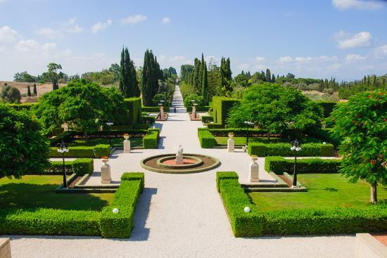 Bahai Gardens, Acre-RnDmS-Photographic Print
