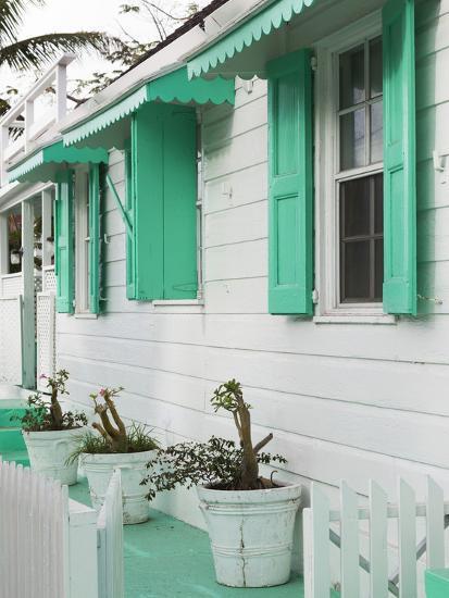 Bahamas, Eleuthera Island, Harbour Island, Dunmore Town, House Detail-Walter Bibikow-Photographic Print
