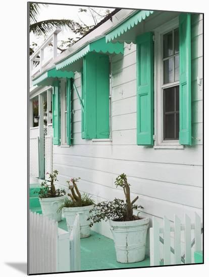 Bahamas, Eleuthera Island, Harbour Island, Dunmore Town, House Detail-Walter Bibikow-Mounted Photographic Print