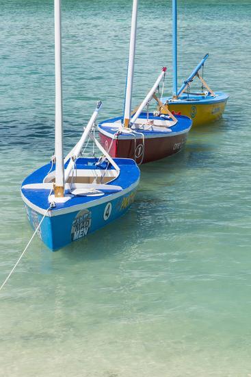 Bahamas, Exuma Island. Boats Moored in Harbor-Don Paulson-Photographic Print