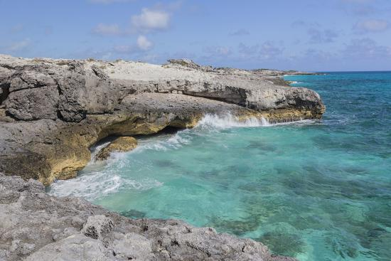 Bahamas, Exuma Island, Cays Land and Sea Park. Site of the Blow Hole-Don Paulson-Photographic Print