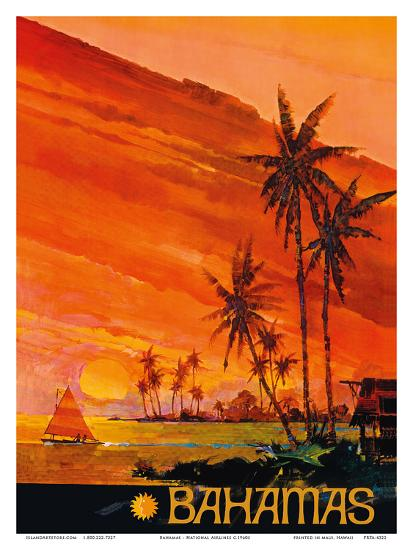 Bahamas - National Airlines--Art Print
