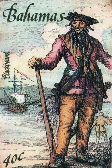 Bahamas Postage Stamp - Blackbeard--Giclee Print