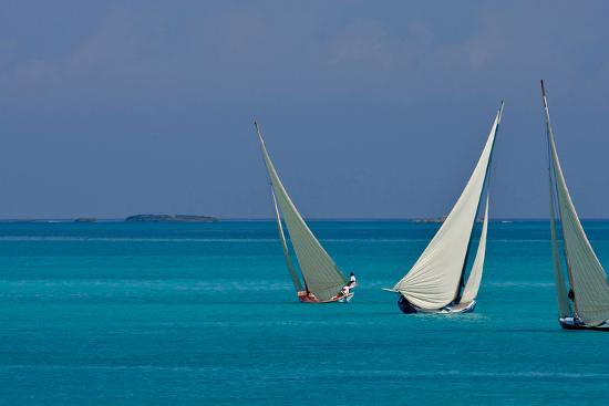 Bahamian Racing Sloop at the Annual National Family Island Regatta,  Georgetown, Great Exuma Photographic Print by | Art com