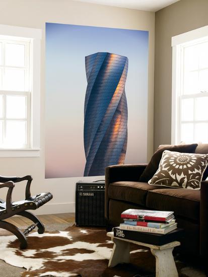 Bahrain, Manama, Bahrain Bay, United Tower also Called the Twisting Tower-Jane Sweeney-Wall Mural