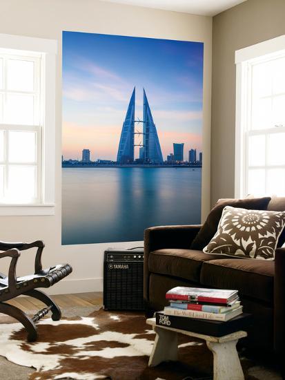 Bahrain, Manama, Bahrain Bay, View of Bahrain World Trade Center-Jane Sweeney-Wall Mural