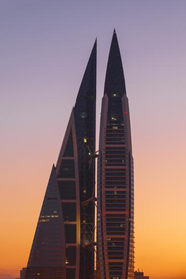 Bahrain, Manama, Bahrain World Trade Center-Jane Sweeney-Photographic Print