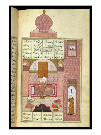 "Bahram (420-28) Visits the Princess of Rum, to ""The Seven Princesses,"" 1199, by Elias Nezami--Giclee Print"