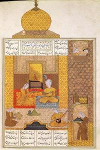 "Bahram Visits the Princess of Turkestan, Illustration to ""The Seven Princesses"""