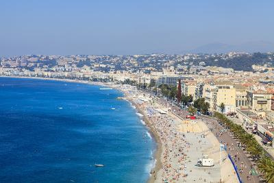 Baie Des Anges and Promenade Anglais-Amanda Hall-Photographic Print