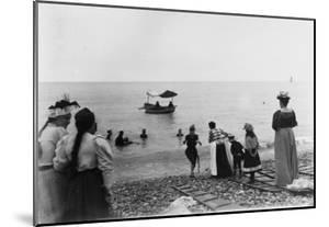 Baignade à la plage