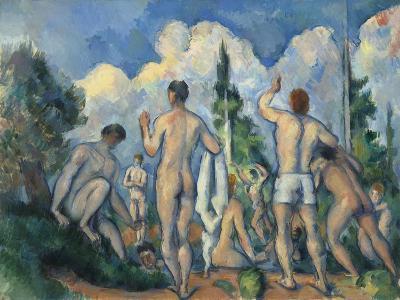 Baigneurs (Bathers)-Paul C?zanne-Giclee Print