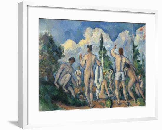 Baigneurs (Bathers)-Paul Cézanne-Framed Giclee Print